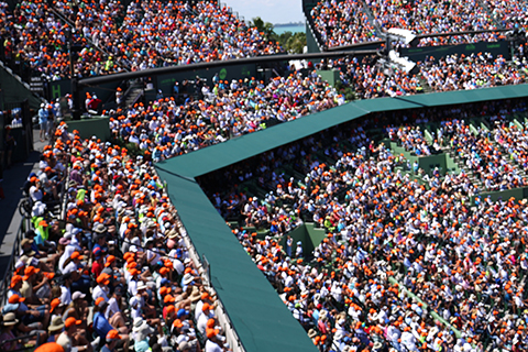 A stock photo of a crowded sports stadium.