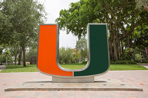 "A photo of the ""Rock"" at the University of Miami Coral Gables campus."