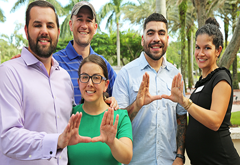 A group of University of Miami MAIA students.