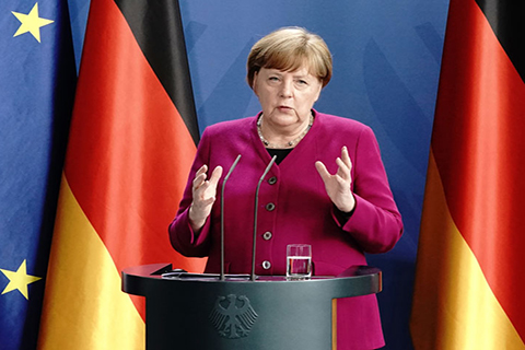Photo courtesy of the Associated Press. German Chancellor Angela Merkel.